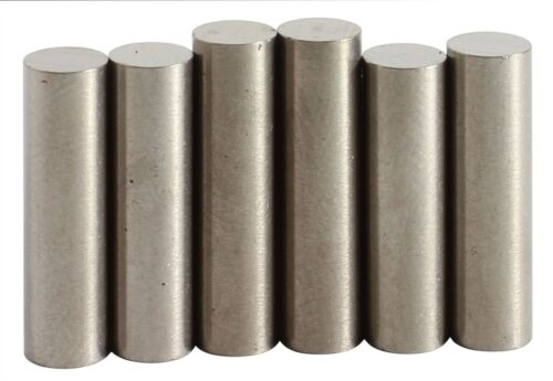 "Alnico 5 Flat Top Rod Magnet Staggered Set .187/"" diameter"