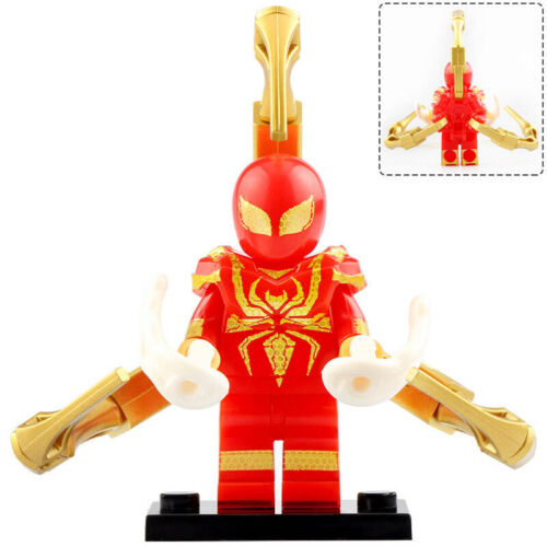 Marvel Comics Spiderman Lego Moc Minifigure Toys Iron Spider