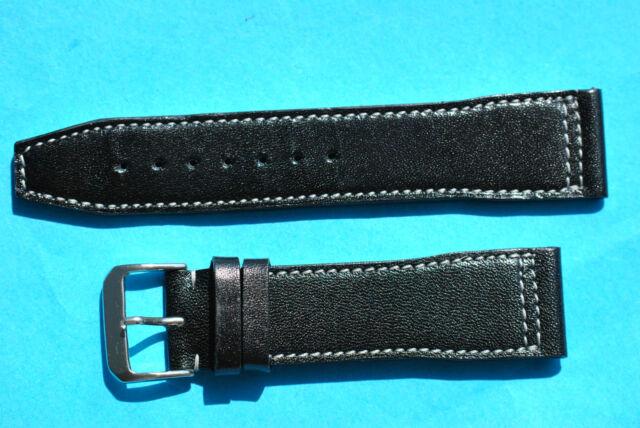 REMUS Aviateur Bracelet de Montre 24mm Noir de Kaufmann D'Allemagne