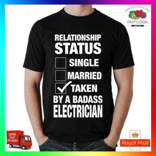 Relation statut prises par un dur à cuire électricien tee tshirt t-shirt cool unisexe