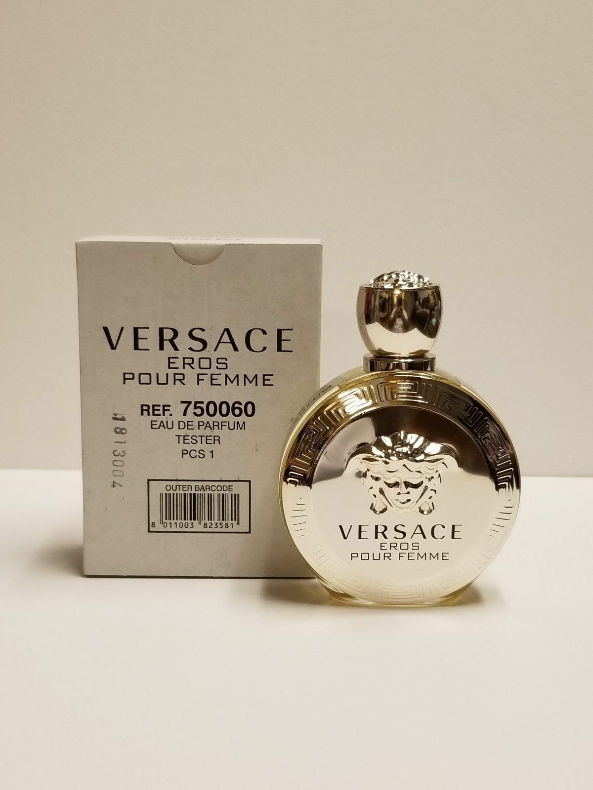Versace Eros Pour Femme 34 Oz Eau De Parfum Spray Tester For Women