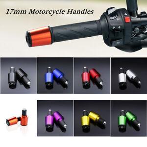 Multi-colors 17mm Motorcycle Handle Handlebar Grips Bar End Cap Plugs Slider Cnc