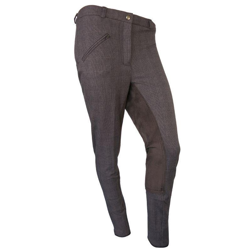 c448958a9c Ecuestre Equitación Elástico Marrón Marrón Marrón Cuadros Mujer Jodhpur  Pantalones Tamaño 24-38 e6bd85