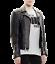 NUOVA-linea-uomo-UK-Flag-Punk-BRANDO-VINTAGE-COMPLETO-Argento-Punte-Giacca-in-Pelle-con-Borchie miniatura 1