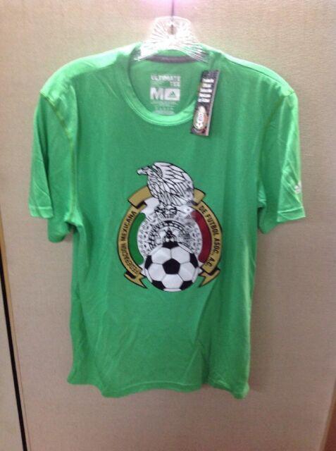 7e0fe58939e adidas Mens M Mexico National Team Soccer Futbol Green Crest Cotton ...