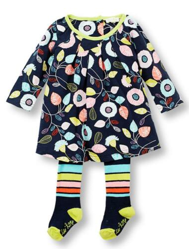 Le Top Baby Girls Dancing Leaves Fall BTS Dress and Tights Set 2 Pc Outfit New
