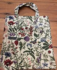 Tote Bag Shopping Nappy Knitting Craft Travel Tapestry Floral New