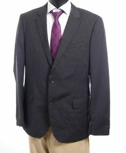 HUGO BOSS Sakko Jacket Huge3 Gr.54 grau kariert Einreiher 2-Knopf -S148