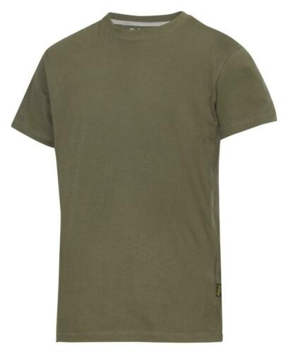 Snickers 2502 Classic Cre Neck T-Shirt Steel Grey FREE SOCKS Cotton
