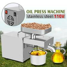 110v Stainless Steel Automatic Oil Press Machine Expeller Commercial Amp Home Use