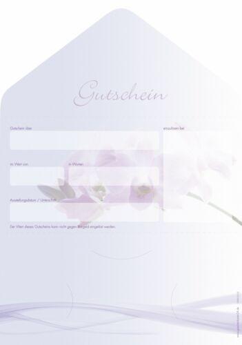 10 Stück Wellness - Geschenkgutscheine für Beauty Gutscheinkarten Kosmetik