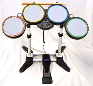 ps rock band  wireless drum set kit    beatles guitar hero band ps ps ebay