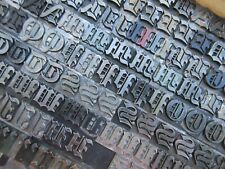 Letterpress Lead Type 48 Pt Engravers Old English Bold Atf 149 A11