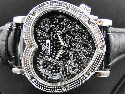 Ladies' Groovy Diamond Master White Finish Genuine Diamond Bezel Watch 0.08 Ct