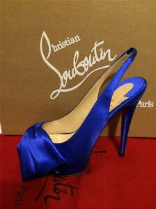 8b8e6180d38 Details about Christian Louboutin VENDOME SLING NODO Satin Bow Platform  Heel Shoes Sandal $975