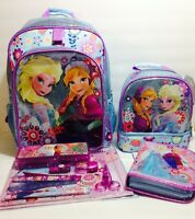 Disney Store Frozen Backpack Lunch Box/tote School Accesories