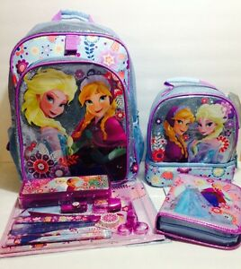 a26a683a730 Image is loading Disney-Store-Frozen-Backpack-Lunch-Box-Tote-School-
