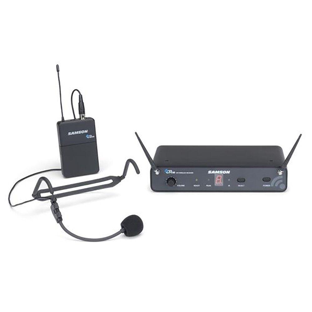 Samson Concert 88 Headset 16-Ch True Diversity UHF Fitness Wireless System D