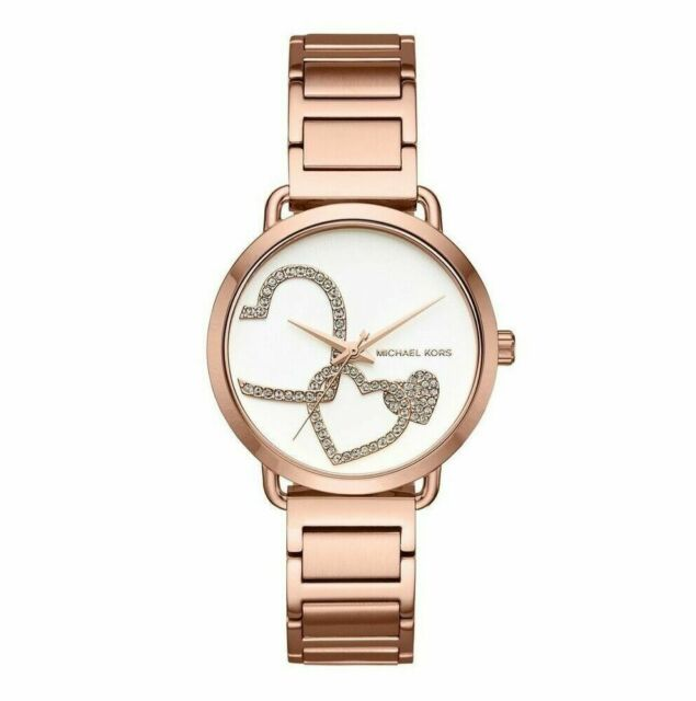 c04f086c7fcc Michael Kors MK3825 Portia Rose Gold-tone Stainless Steel Bracelet Watch  37mm