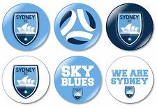 9 x Melbourne Victory 32mm BUTTON PIN BADGES A League Soccer Football Melbourne