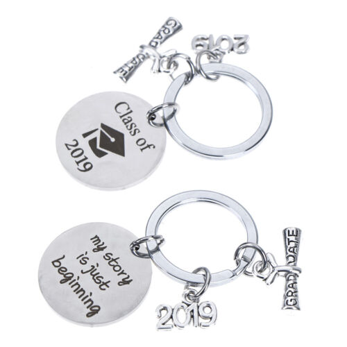 Graduation Keychain Engraved Class of 2019Grad Gift Keyring Stainless KeychainOS
