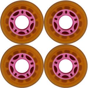 Adroit Roller Skate Rollerblade Wheel 64 Mm 90 A Outdoor Rose 5-spoke Hub Set De 4-afficher Le Titre D'origine