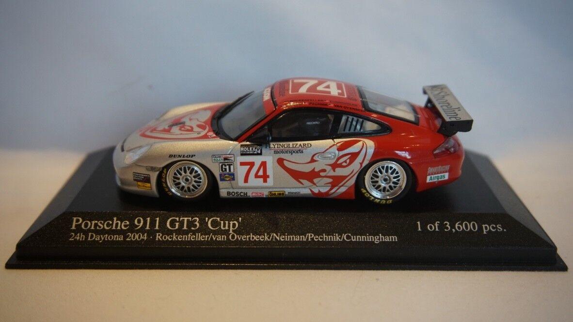 Muy raras Minichamps PORSCHE 911 GT3 Copa' ' 24hrs Daytona 2004  74 1 43