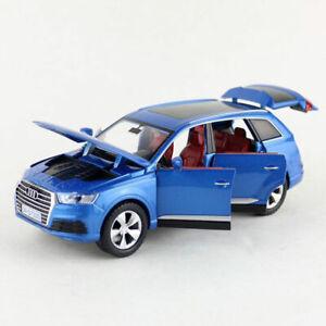 Audi-Q7-SUV-1-32-Die-Cast-Modellauto-Auto-Spielzeug-Kinder-Model-Sammlung-Blau