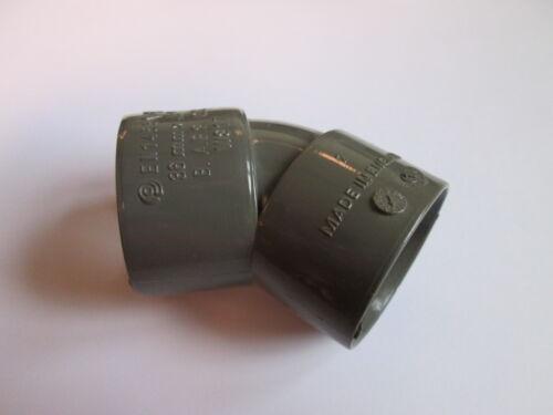 Aquaflow 32mm 4 Gris 45 degré coude knuckle bend déchets raccords de tuyaux # 1a124