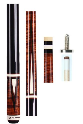 Joint caps /& Q Wiz Brown Stained Pool Cue NEW Players C-811 FREE US Ship