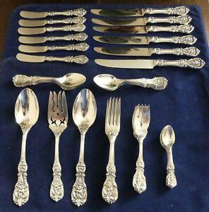 Reed-amp-Barton-Francis-1-Sterling-Silver-42-Piece-Set-No-Monogram
