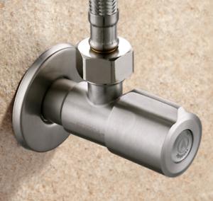 "Wall Stainless Steel Angle Valve G1//2/"" Kitchen Bathroom Toilet Water Stop Valve"