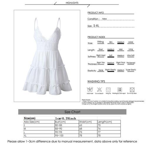 Womens Summer Boho Mini Dress Beach Dresses Sundress UK