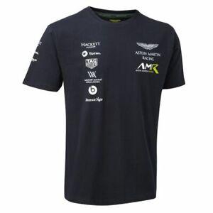 Sale-2018-Aston-Martin-Racing-Team-Mens-Sports-T-Shirt-Navy-Sizes-XS-XXXL