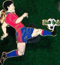 Hard Rock Cafe YOKOHAMA 2002 World Cup Soccer PIN Player Kicking Ball HRC #12763