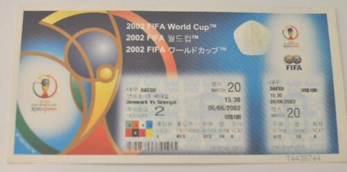 2002 FIFA World Cup Dual Country Games Played in Korea and Japan-Unused Tickets