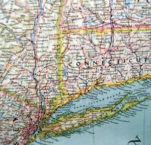 NATIONAL GEOGRAPHIC SOCIETY MAP NORTHEASTERN UNITED STATES SEPTEMBER ...