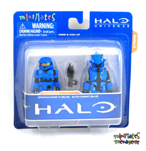 Halo Minimates TRU Toys R Us Wave 3 Spartan Mark VI /& Elite Combat Blue Blue