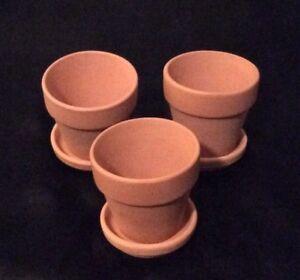 24 Pcs Of 2 Terra Cotta Clay Pots Amp Saucers 12 Pots