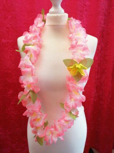 Pretty Rosa Chiaro Fiore Hawaiano Ghirlanda Lei Luau Party Spiaggia Costume