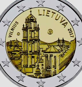 UNCIRCULATED LITHUANIA 2 EURO 2017 Commemorative coin VILNIUS CULTURE /& ART