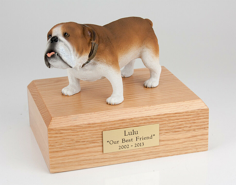 Bulldog Pet Funeral Cremation Urn Available in 3 Different Colors & 4 Sizes