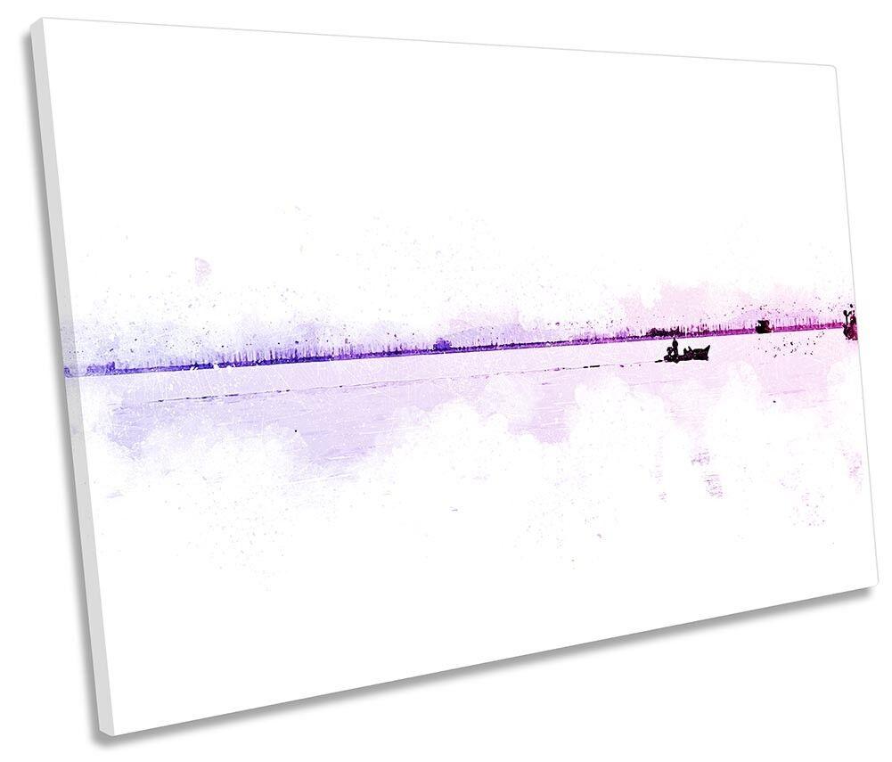 Boats Seascape Seascape Seascape Rosa Weiß SINGLE CANVAS WALL ARTWORK Print Art 55d0ca