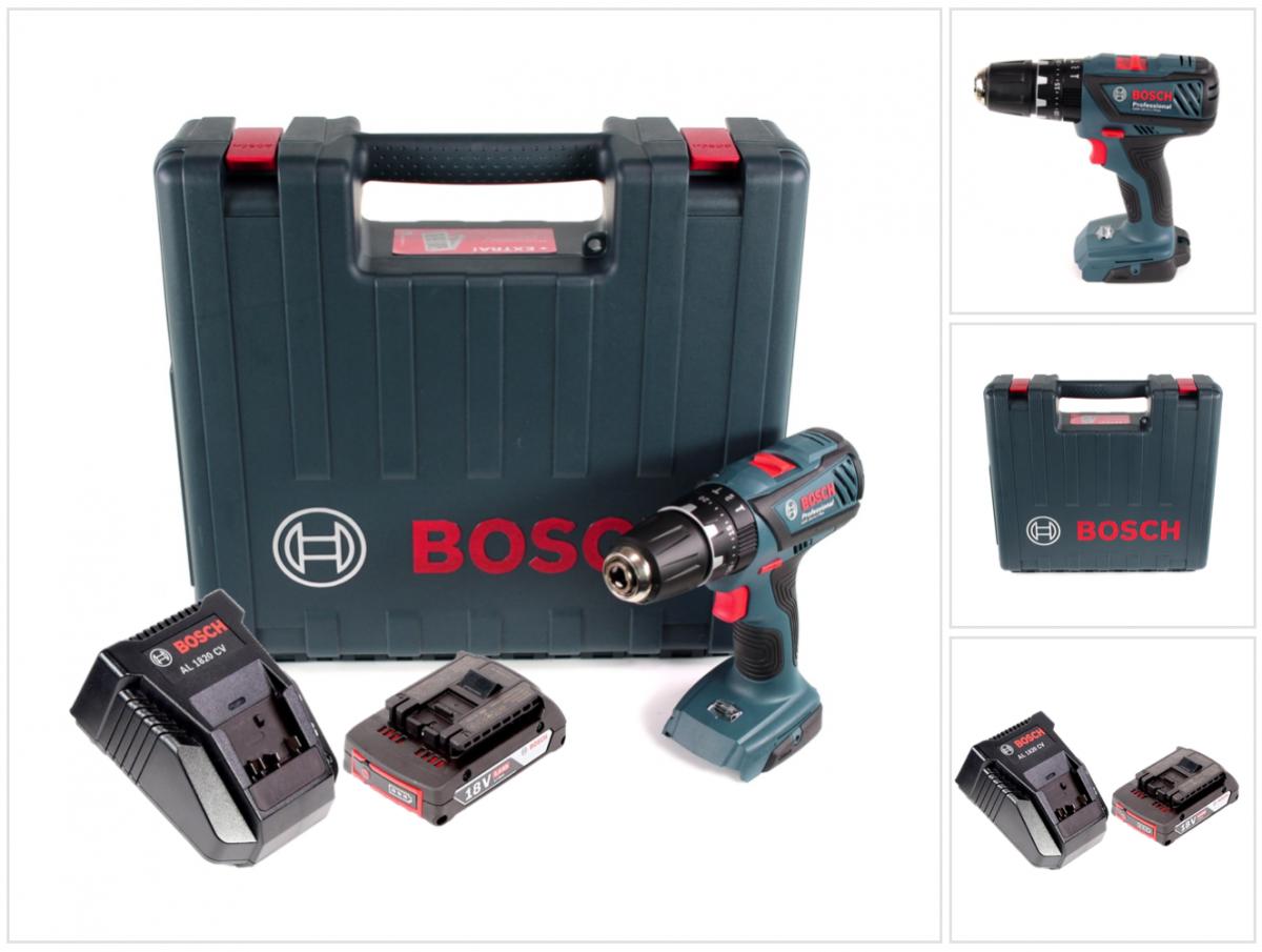 Bosch GSB 18-2-Li Plus Schlagbohrschrauber im Koffer + 1x GBA 2,0 Ah + Ladegerät