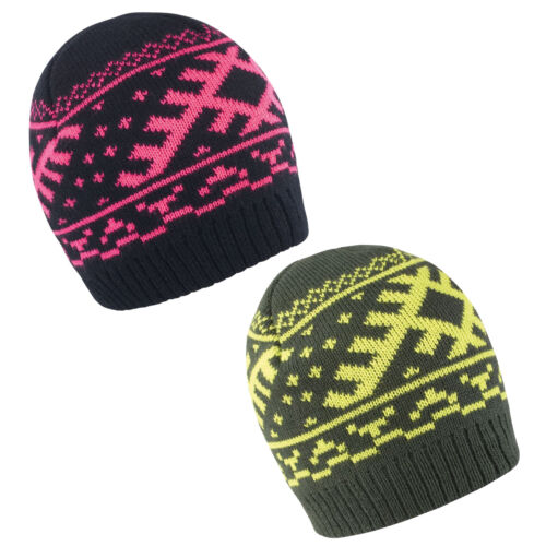 RESULT NORDIC PATTERN WARM KNITTED BEANIE HAT RS371