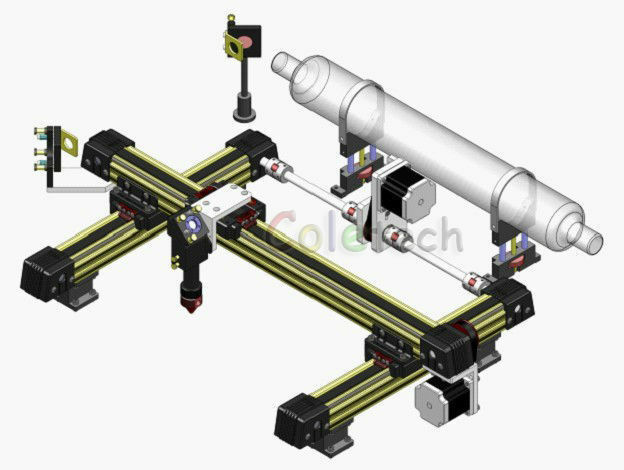 Integrated mechanical part for CO2 Laser engraveing cutting machine DIY 50X30CM