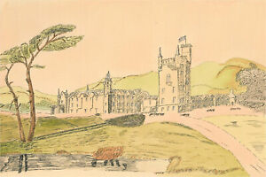 N.K. Day - 20th Century Pen and Ink Drawing, Landscape View with Castle
