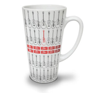Red Music Guitar NEW White Tea Coffee Latte Mug 12 17 oz | Wellcoda