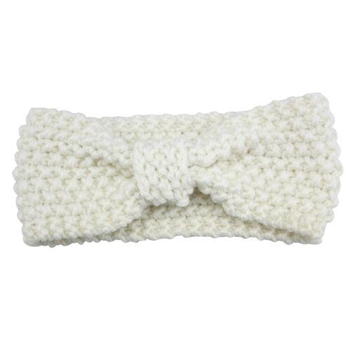 Baby Girls Fashion  Soft Knit Crochet Turban Headband Hair Band Head Wrap Decor