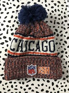top quality catch differently NWT CHICAGO BEARS KNIT HAT NFL NEW ERA OFFICIAL ON FIELD SIDELINE ...